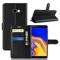 Чехол-книжка Litchie Wallet для Samsung J415 Galaxy J4 Plus Черный