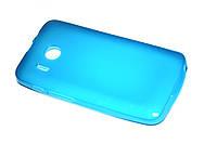 Глянцевый TPU чехол для Huawei Y320 Dual Sim голубой