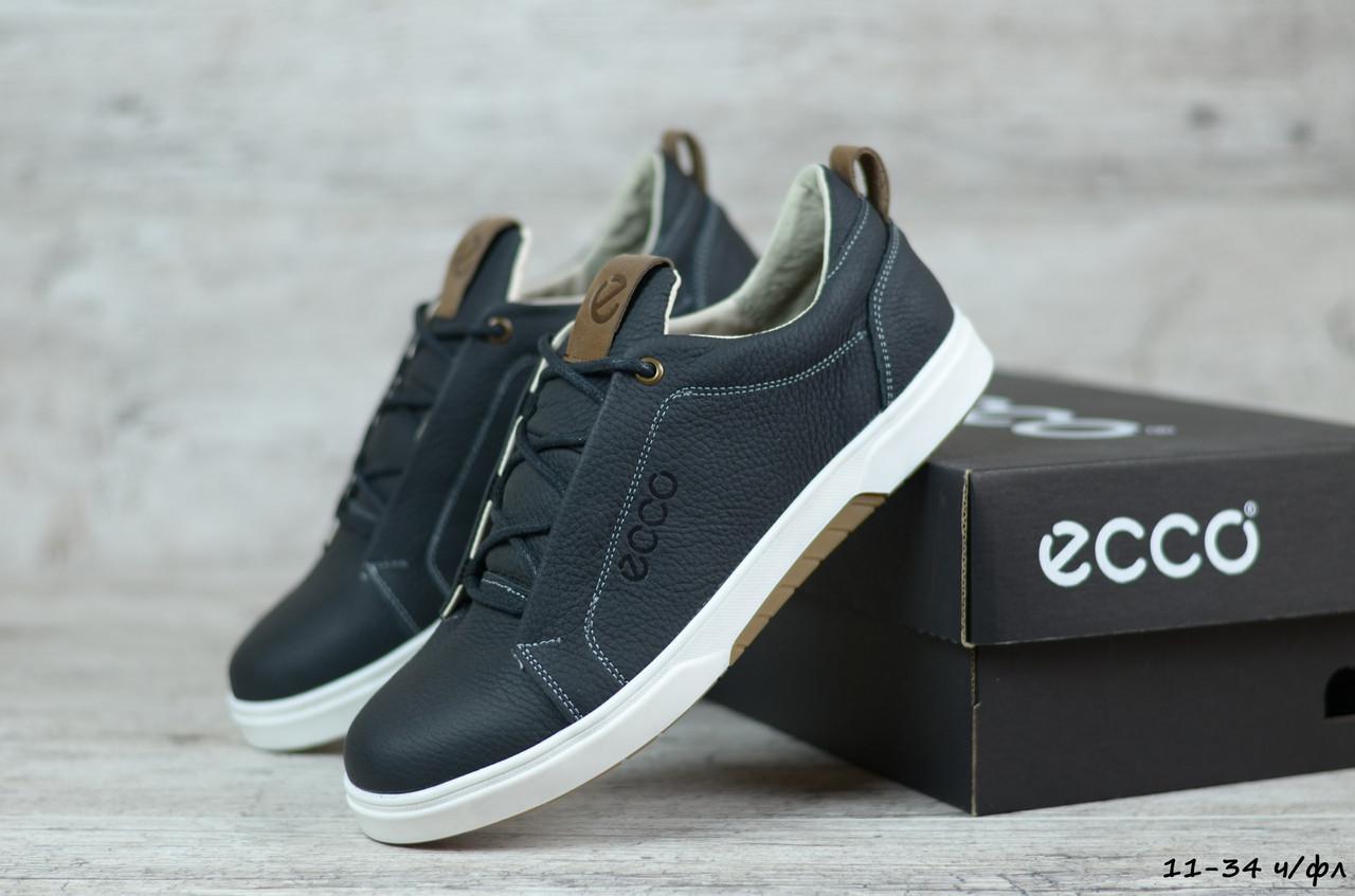 Мужские кожаные кроссовки Ecco (Реплика)