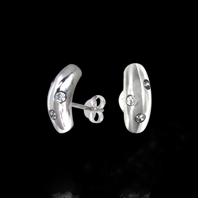 Серебряные серьги гвоздики с фианитами Selenit 25007
