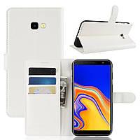 Чехол-книжка Litchie Wallet для Samsung J415 Galaxy J4 Plus Белый