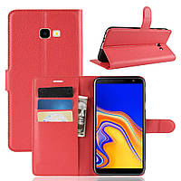 Чехол-книжка Litchie Wallet для Samsung J415 Galaxy J4 Plus Красный