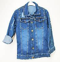 Джинсовий жакет (піджак, курточка) для дівчинки весна-осінь на