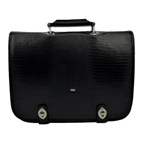 9493fd41ddd0 Мужской портфель кожаный Desisan 318-143 черный с тиснением - купить по  лучшей цене в Киеве от компании