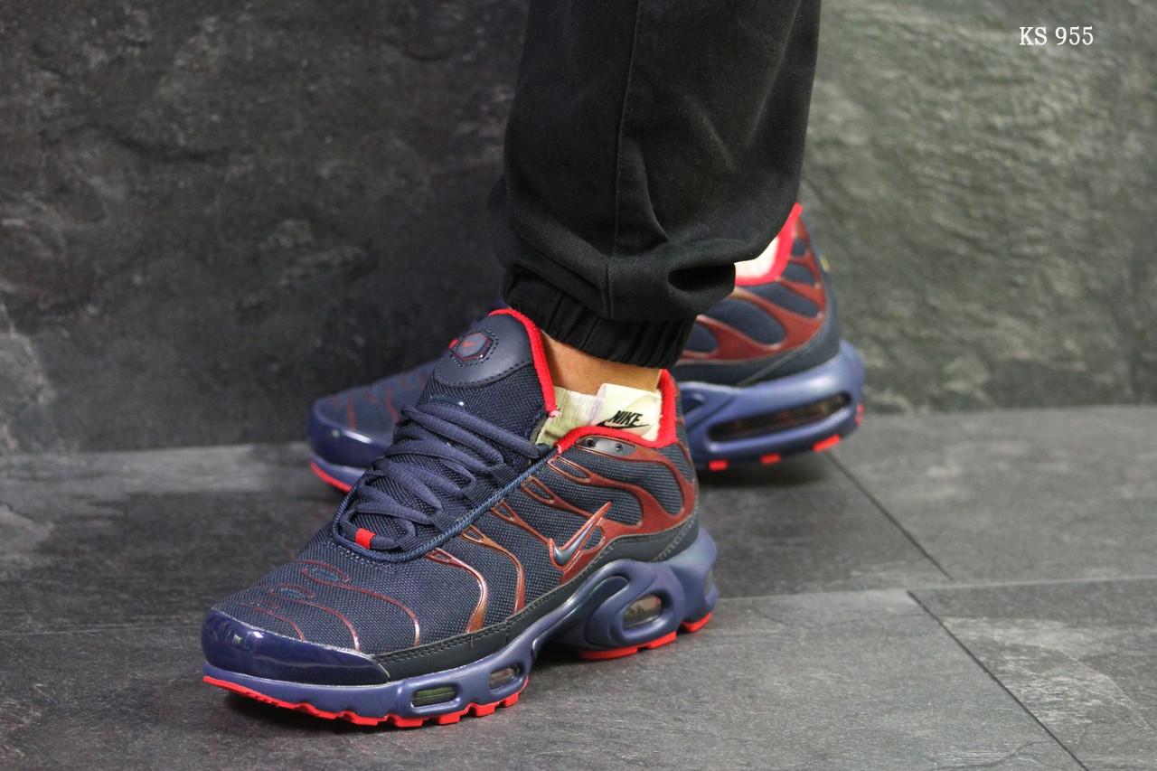 de4decec Мужские кроссовки Nike Air Max Tn (сине/красные)реплика - Интернет-магазин