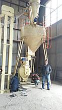 Охолоджувач гранули. Охолоджувальна колона з просеивателем для лінії гранулювання