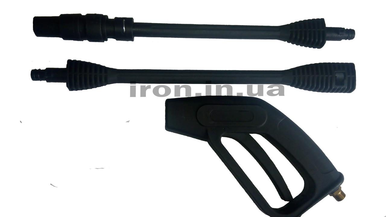 Пистолет для авто-мойки высокого давления из трех частей
