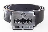 Кожаный ремень унисекс Philipp Plein, фото 2