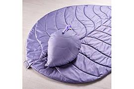 Стеганый коврик и подушка: Набор Листочек лиловый