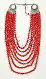 Набір прикрас Оксанка з Кораллів намисто та сережки, натуральный камень,тм Satori \ Sn - 0055, фото 3