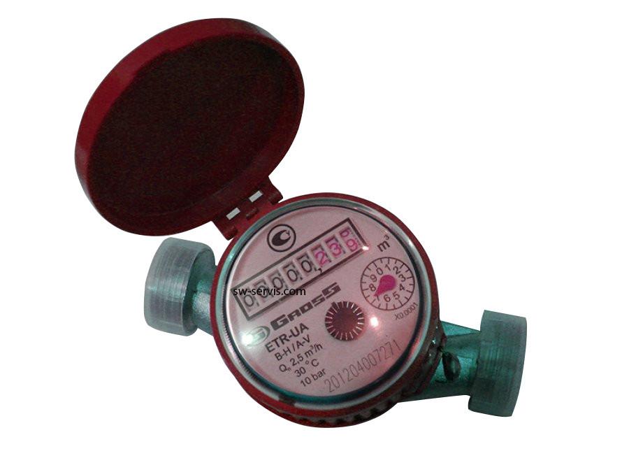 Лічильник для гарячої води 2,5 gross etr ua