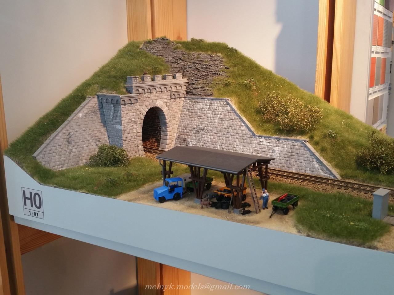 Auhagen 11342Сборная модель однопутного тоннельного портала, масшатба H0 1:87