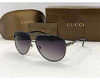 Мужские солнцезащитные очки с поляризацией в стиле Gucci (0195)