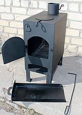 """Печь на дровах """"Огонь"""" с варочной поверхностью (печь дровяная), сталь 4мм, фото 2"""