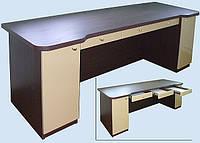 Компьютерный стол с крашенными фасадами «Люкс»