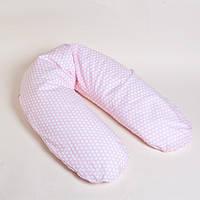 Подушка RIO ТМ Womar (Zaffiro)хлопковая для кормления, для беременных (наполнитель пенополистирольные шарики)