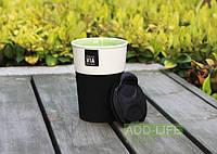 Керамическая чашка с крышкой и съемным чехлом VIA. Starbucks Черный, фото 1