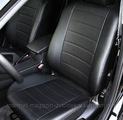 Чехлы полностью из экокожи Hyundai Santa Fe 2000-06г.