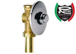 "Кран дозатор для слива туалета, чаши генуя 1"" скртытого монтажа нажимной REMER TE17110"
