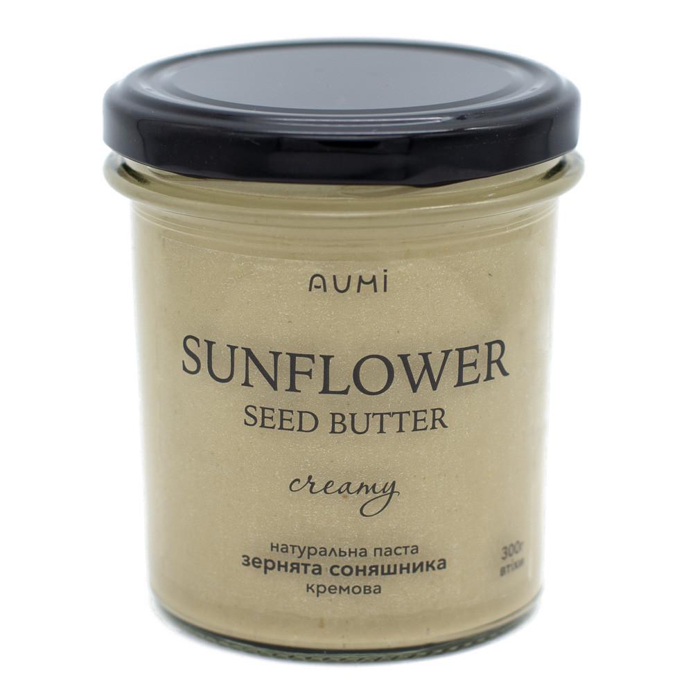 Паста из семян подсолнечника кремовая, 300г, банка СТЕКЛО, натуральная без добавок