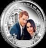 Королівське весілля ~ Срібна монета на честь шлюбу Принца Гері та Меган Маркл, у футлярі