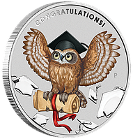 Випускнику ~ Срібна монета у листівці, фото 1