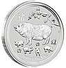 """1/2 oz Срібна монета """"Рік Свині"""""""