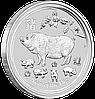 """1 oz Срібна монета """"Рік Свині"""""""