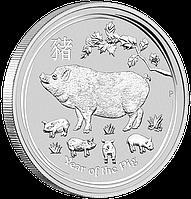"""1 oz Срібна монета """"Рік Свині"""" , фото 1"""