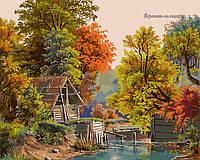 Картина по номерам Babylon Осенний этюд с плотиной VP173 40 х 50 см, фото 1
