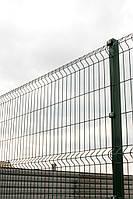 Заборы ТМ Казачка проволочные секционные, проволока 4,0 мм 1,5х2,0 м оцинкованные с полимерным покрытием