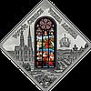 Вітраж Віденської церкви Спасителя ~ Срібна монета у футлярі