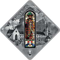 Вітраж Аугсбурзького собору ~ Срібна монета у футлярі, фото 1