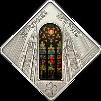Вітраж Нью-Йоркського собору Св.Патріка ~ Срібна монета у футлярі, фото 1