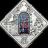 Вітраж базиліки Св.Штефана в Будапешті ~ Срібна монета у футлярі