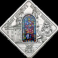 Вітраж базиліки Св.Штефана в Будапешті ~ Срібна монета у футлярі, фото 1