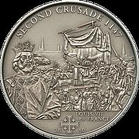 Хрестові походи – 2й - 1147 р., Людовик VII король Франції ~ Срібна монета у футлярі, фото 1