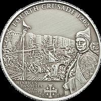 Хрестові походи – 4й - 1202 р., Енріко Дандоло дож Венеції  ~ Срібна монета у футлярі, фото 1