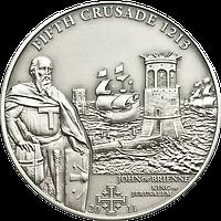 Хрестові походи – 5й - 1213 р., Іоанн де Брієнн король Єрусалиму ~ Срібна монета у футлярі, фото 1