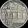 Хрестові походи – 6й 1225 р. Фрідріх II Штауфен імператор Священної Римської імперії Срібна монета у футлярі