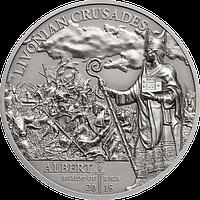 Лівонський хрестовий похід – Альберт, Єпископ Ризький ~ Срібна монета у футлярі, фото 1