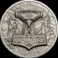 Молот Тора – Мйольнір ~ Срібна монета у футлярі, фото 1