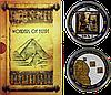 Чудеса Єгипту ~ Сфінкс ~ Піраміди Гізи ~ Трон Тутанхамона ~ Набір з 2 срібних монет