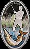 """Рибалка ~ """"Новачкам везе!"""" Срібна монета у подарунковій листівці"""