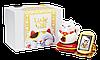 Котик щастя ~ Срібна монета в статуетці з котиком, що махає лапкою, та золотими монетами