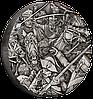 Гусари ~ Срібна монета з високим рельєфом та NFC чіпом для перегляду панорамної 3D віртуальної реальності