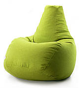Кресло мешок груша микро-рогожка 85*105 см Оливковый
