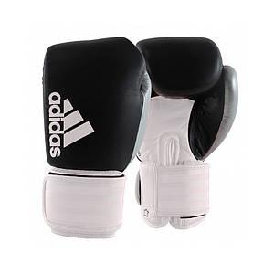 """Боксерські рукавички Adidas """"Hybrid 200 Dynamic Fit"""" (чорний/білий/срібло, ADIHDF200)"""
