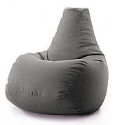 Кресло мешок груша микро-рогожка 100*140 см Серый