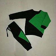 Детский спортивный костюм Инь Янь черный с зеленым